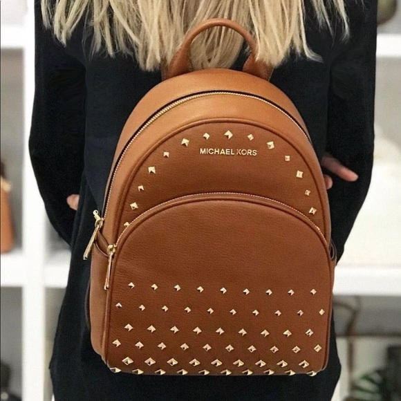 b0b14d6782f8 Michael Kors Bags | Price Firm Mk Abbey Medium Leather Backpack ...
